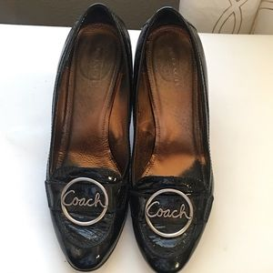 Coach patent leather pumps size 11